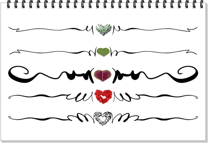 Herz Ornamente zum Downloaden