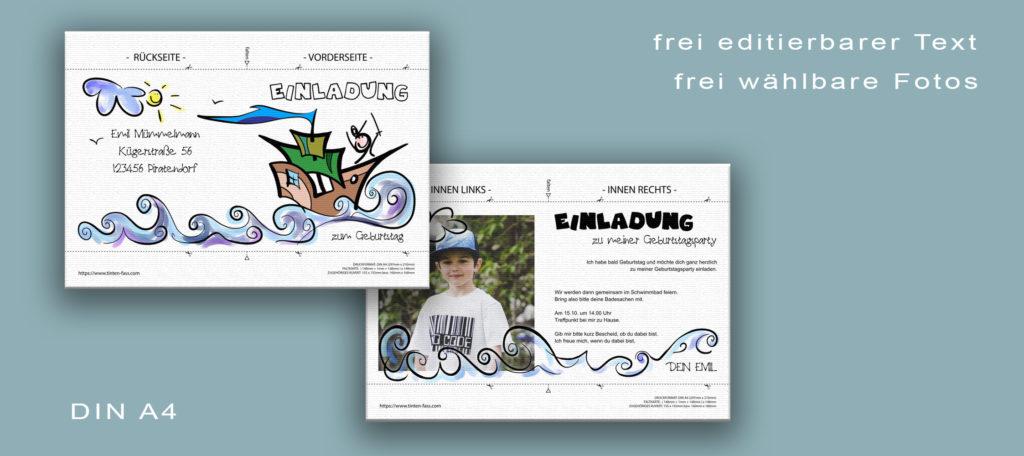 Druckvorlage im DIN A4 Format für die Downloads diser Seite