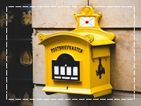 Analoger eCard Geburtstag Postkasten