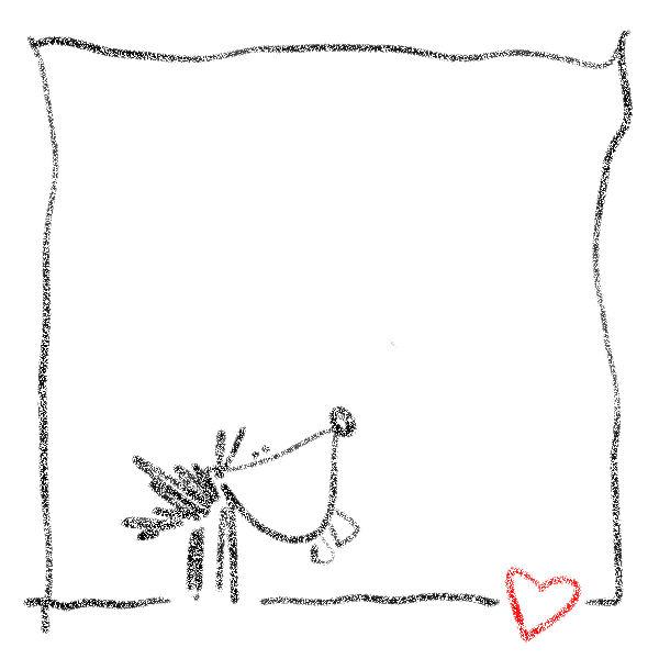 Valentinstagsgrüße lustiger Hund mit Herz