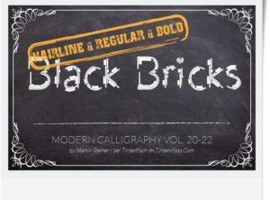 Black Bricks | Konstruktionsschrift in drei Schnitten