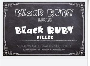 Black Ruby | Schriftart für Geburtstag, Hochzeit, Kinderfest